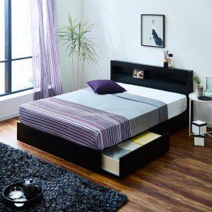 レスター収納付きベッド